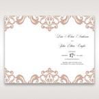 White Elegant Laser Cut Half Pocket with a Bow - Menu Cards - Wedding Stationery - 94