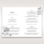 Black Gold Poppies in a Rose Garden - Menu Cards - Wedding Stationery - 18