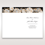Black Gold Poppies in a Rose Garden - Menu Cards - Wedding Stationery - 45