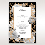Black Gold Poppies in a Rose Garden - Menu Cards - Wedding Stationery - 48
