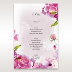 Purple Laser Cut Forest 3D Pocket - Menu Cards - Wedding Stationery - 24