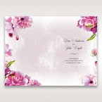 Purple Laser Cut Forest 3D Pocket - Menu Cards - Wedding Stationery - 0