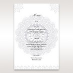 Blue Blue Elegance, Floral Couture - Menu Cards - Wedding Stationery - 48