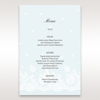 Brown Floral Couture in Blue & White - Menu Cards - Wedding Stationery - 26