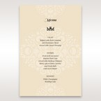 Yellow/Gold Jeweled Laser Cut - Menu Cards - Wedding Stationery - 10