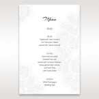 White Laser Cut Flower Frame - Menu Cards - Wedding Stationery - 54
