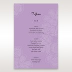 Purple Laser Cut Flower Frame III - Menu Cards - Wedding Stationery - 40
