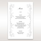 White Modern Times Vintage Pocket - Menu Cards - Wedding Stationery - 11