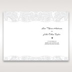 White White Dress - Menu Cards - Wedding Stationery - 99