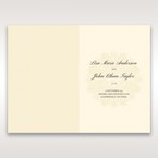 Brown Classic Couture Gold & Brown - Menu Cards - Wedding Stationery - 1