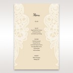 Yellow/Gold Laser Cut Floral Pocket - Menu Cards - Wedding Stationery - 86