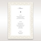 White Amabilis - Menu Cards - Wedding Stationery - 35