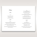 White Modern Pocket-Grey - Menu Cards - Wedding Stationery - 26