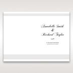 White Modern Pocket-Grey - Menu Cards - Wedding Stationery - 27