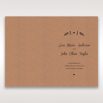 Brown Rustic - Menu Cards - Wedding Stationery - 56