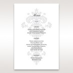 White Letter-fold Damask Pocket - Menu Cards - Wedding Stationery - 12