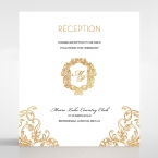 Modern Crest reception card DC116122-KI-GG