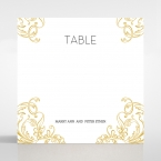 Modern Crest table number card DT116122-DG
