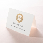 Modern Crest thank you card DY116122-KI-GG