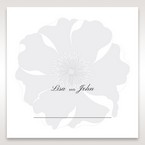 Silver/Gray Twinkling Rose - Place Cards - Wedding Stationery - 18
