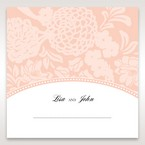 Pink Rustic Garden Laser Cut Pocket - Place Cards - Wedding Stationery - 48
