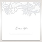 White Black Laser Cut Wrap with Ribbon - Place Cards - Wedding Stationery - 68