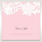Pink Laser Cut Floral Half Pocket  - Place Cards - Wedding Stationery - 72
