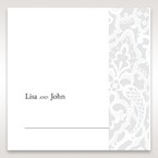 White Elegant Laser Cut - Place Cards - Wedding Stationery - 14