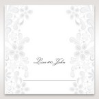 White Laser Cut Floral Wrap - Place Cards - Wedding Stationery - 86