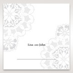 Black Laser Cut Floral Frame - Place Cards - Wedding Stationery - 65