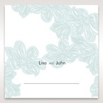 Blue Laser Cut Flower Wrap - Place Cards - Wedding Stationery - 90