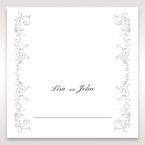 White Modern Times Vintage Pocket - Place Cards - Wedding Stationery - 25