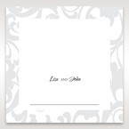Blue Laser Scrolling Grandeur Layered Laser Cut - Place Cards - Wedding Stationery - 75