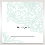 Blue Gatefold Floral Laser Cut - Place Cards - Wedding Stationery - 12