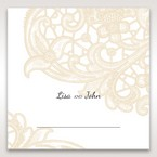 Yellow/Gold Laser Cut Floral Pocket - Place Cards - Wedding Stationery - 38