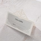 Silver/Gray Jeweled Romance Laser Cut - Place Cards - Wedding Stationery - 99