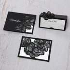 White Laser Cut Floral Lace - Place Cards - Wedding Stationery - 39