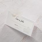 White Laser Cut Floral Lace - Place Cards - Wedding Stationery - 23