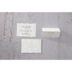 White Enchanted Folral Pocket III - Place Cards - Wedding Stationery - 49