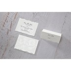 White Enchanted Folral Pocket III - Place Cards - Wedding Stationery - 50
