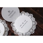 White Traditional Romance - Wedding invitation - 28