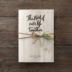 Brown Rustic Woodlands - Wedding invitation - 41