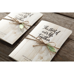 Brown Rustic Woodlands - Wedding invitation - 46