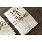 Brown Rustic Woodlands - Wedding invitation - 48