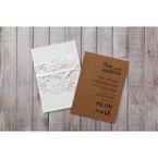 Brown Rustic Romance Laser Cut Sleeve - Wedding invitation - 94