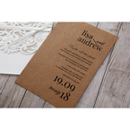 Brown Rustic Romance Laser Cut Sleeve - Wedding invitation - 95