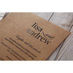 Brown Rustic Romance Laser Cut Sleeve - Wedding invitation - 96