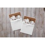 Brown Rustic Laser Cut Pocket with Classic Bow - Wedding invitation - 0