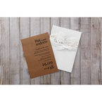 Brown Rustic Laser Cut Pocket with Classic Bow - Wedding invitation - 2