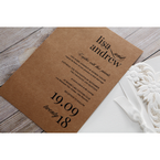 Brown Rustic Laser Cut Pocket with Classic Bow - Wedding invitation - 3